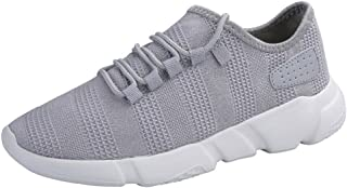 KESEELY Male Sport Shoes - Men's Fashion Beathable Mesh Shoes Summer Style Lace-up Slip On Network Sneakers