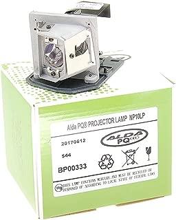 Alda PQ-Premium, Lámpara de proyector compatible con NP10LP para NEC NP100G, NP200, NP200EDU, NP200A, NP200G, NP100, NP100A Proyectores, lámpara con carcasa