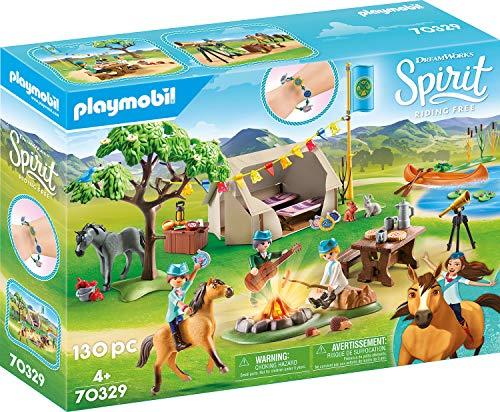 PLAYMOBIL DreamWorks Spirit - Campamento de Verano con Fortu y Spirit, A partir de 4 años (70329)