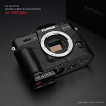 Gariz XS-CHXT30BK Genuine Leather Half Case for Fuji X-T30 / X-T20 / X-T10, Black