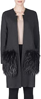 Joseph Ribkoff Faux Fur Pocket Coat Style 183333