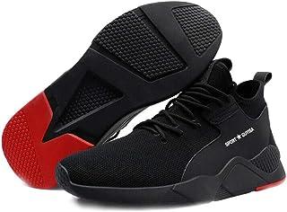 eamqrkt 1 par de zapatillas de trabajo resistentes, transpirables, antideslizantes, a prueba de pinchazos para hombres.