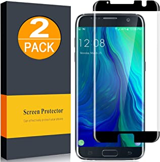 [2-Pack] Samsung Galaxy S7 Edge Screen Protector, 9H Hardness Tempered Glass, Anti-Bubble, HD Ultra Clear, HIGH Definition (Case Compatible Design)