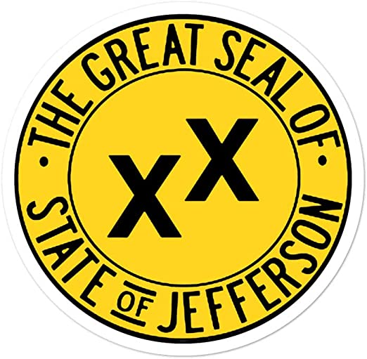 51st State Northern California Conservative AWESOMETIVITY State of Jefferson Decal Vinyl Window Sticker Freedom Fighters in Commiefornia Make California Free Again