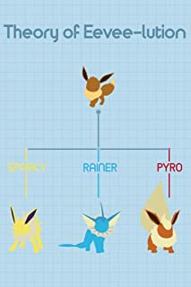 Theory of Eeveelution Video Game Gaming Cool Huge Large Giant Poster Art 36x54