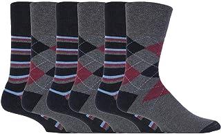 6 Pares Hombre Algodon Vestir Colores Calcetines sin Elastico