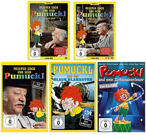 Meister Eder und sein Pumuckl - Komplette TV Serie (1+2) + 3 Kinofilme (Der Kinofilm 1982 / Der blaue Klabauter / Zirkusabenteu