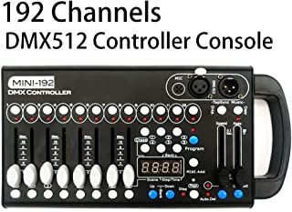 Dmx Console,Universal DMX-512 Controller 192 DMX 512 Stage DJ Light Controller 240 Different Scenes Dmx512 Console for DJs Bands Bars Pubs Clubs Family Party Wedding etc