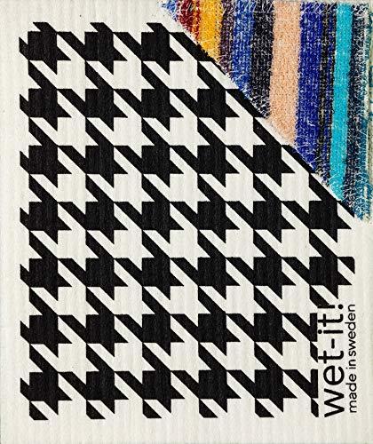 Zweedse schatten Houndstooth zwart met ScRUB, HBLsc, 1 graaf