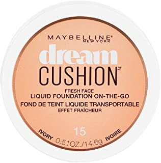 Maybelline New York Dream Cushion Fresh Face Liquid Foundation, Ivory, 0.51 Ounce