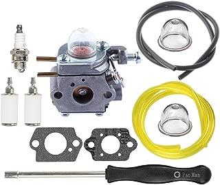 HIPA WT973 Carburetor with Fuel Line Fuel Filter Spark Plug for Bolens BL110 BL160 BL425 Cub Cadet BC210 BC280 CC212 CS202 SS270 String Trimmer Brushcutter