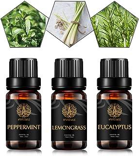 Peppermint Eucalyptus Lemongrass Essential Oil - 100% Pure Peppermint Eucalyptus Lemongrass Organic Aromatherapy Oil 10mL/...