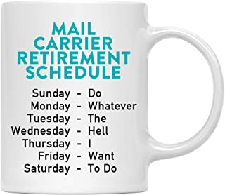 Worlds Best Mail Carrier Beverage Mug Gift Idea Christmas Thank You Present to Postal Delivery Postman Postwoman Route Deliveries Letters Packages 11oz Ceramic Coffee or Tea Cup Digibuddha DM0412