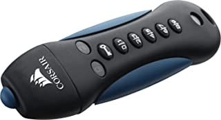 Corsair Flash Padlock 3 16GB Secure verschlüsselter USB Flash Laufwerk USB 3.0, schwarz/blau