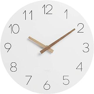 """mooas ساعت دیواری فلت وود ، ساعت دیواری 12 """"چوبی بدون جارو کردن حرکت جارو ضد زنگ ساعت دیواری دیواری ساعت دیواری باتری برای اتاق نشیمن خانگی آشپزخانه اتاق خواب دفتر مدرسه هتل"""