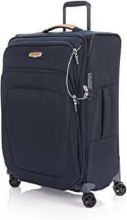 Samsonite Spark Eco Softside Spinner Suitcase, Recycled Fabric, 67cm, Eco Blue