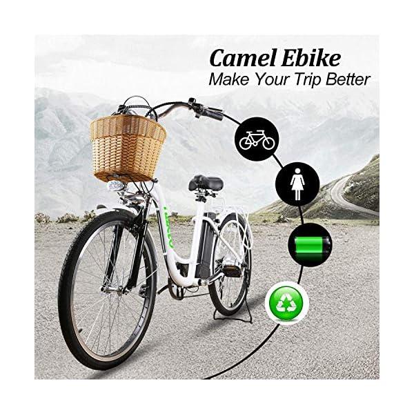NAKTO 26 250W Cargo Electric Bicycle camel
