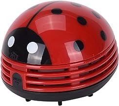 Ouinne Mini-stofreiniger, lieveheersbeestje, elektrische tafelstofzuiger, rood
