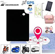 ZEERKEER Personal GPS Trackers Ultra-Thin Hidden Mini GPS Locator Anti-Lost/Anti-Theft Real Time GPS Tracking Device for K... photo