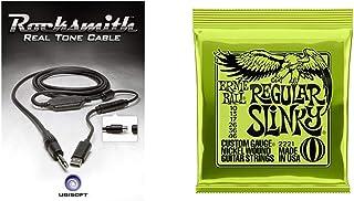 Ubisoft Rocksmith Real Tone Cable (PC DVD) & Cordes pour guitare electrique Ernie Ball Regular Slinky Nound Calibre 10 46