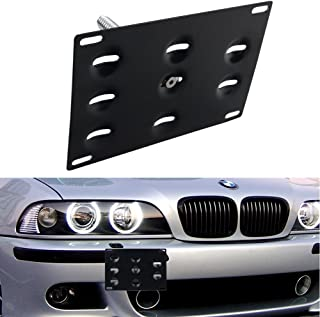 DEWHEL Front Bumper Tow Hook License Plate Mount Bracket Holder Bolt On for BMW E82 E88 E90 E91 E92 E93 E70 E71 128i 135i 1M 325i 328i 330i 335i M3 X5 X6