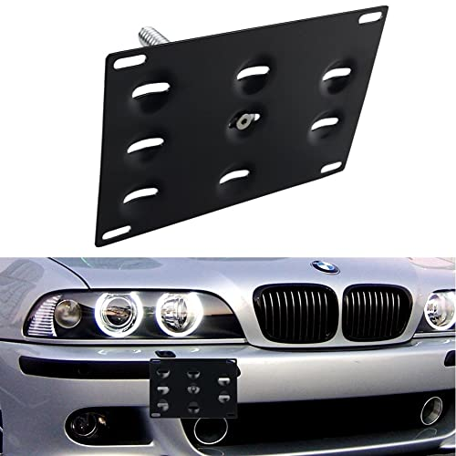 8e9752decb1 DEWHEL Front Bumper Tow Hook License Plate Mount Bracket Holder Bolt On for  BMW E82 E88