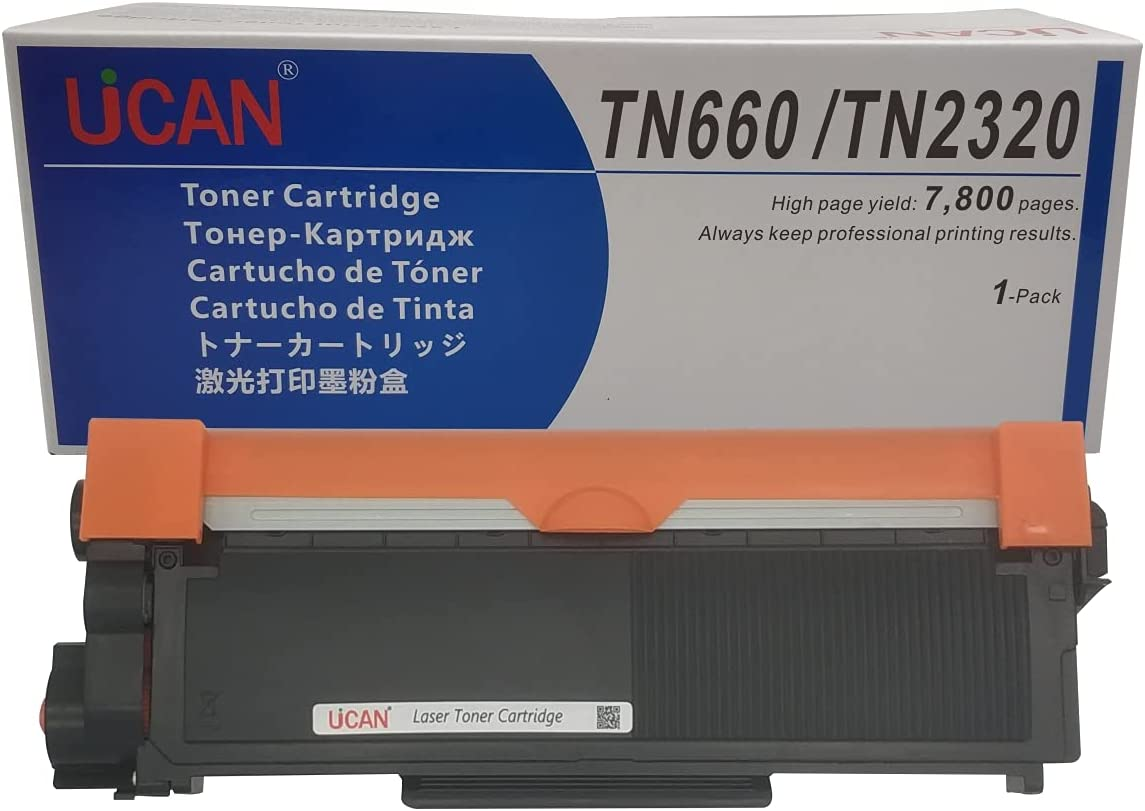 UCAN Compatible Toner Cartridge Replacement for Brother TN660 TN-660 TN630 TN-630 for Dell 593BBKD (P7RMX), 7,800 Pages High Yield ,1-Pack