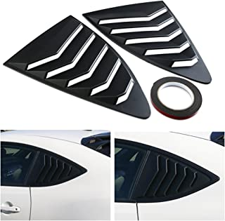 DTOUCH Racing 2 Piece ABS 2 Piece Window Left/Right Matte Finish Racing Style Rear Side Window Vent/Louvers for 2013-up Scion FR-S Subaru BRZ and Toyota 86
