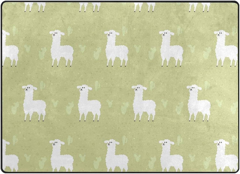 FAJRO Cute Standing Sheep Polyester Entry Way Doormat Area Rug Multipattern Door Mat Floor Mats shoes Scraper Home Dec Anti-Slip Indoor Outdoor
