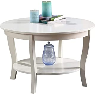 Convenience Concepts 501482W American Heritage Round Coffee Table, White