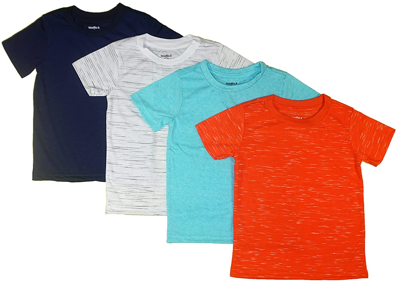 Studio 3 Boys' Mail order Four-Pack Assorted Color Ranking TOP8 T-Shirts