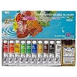ホルベイン 油絵具 アクアオイルカラー DUO Pコンパクトセット画用液付 DU949 10ml(4号) 023949