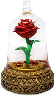 Disney Beauty and The Beast Enchanted Rose Snowglobe