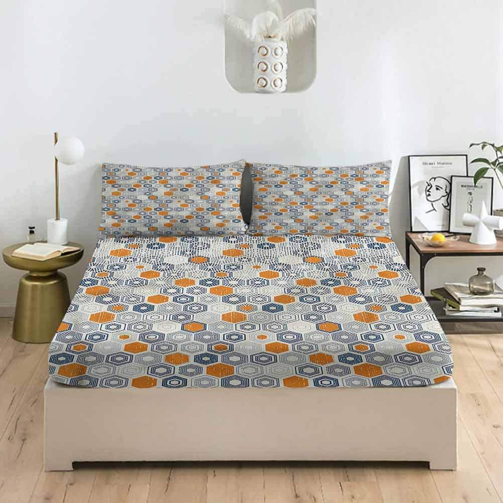 LCGGDB Grunge Twin XL Size Max 62% OFF Sets Fitted Bubble Sheet Pillowcase shopping
