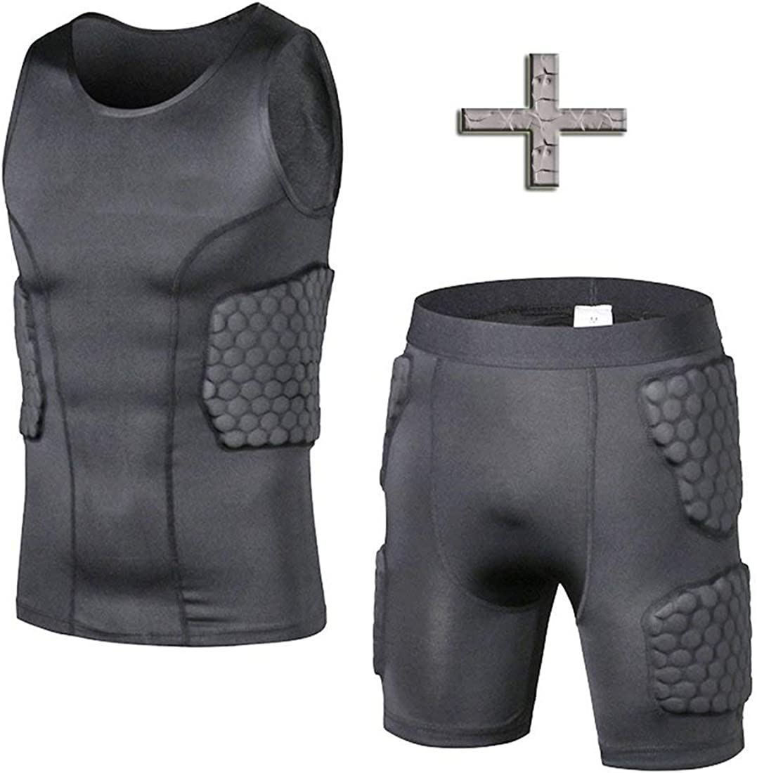 TUOY Padded Compression Shorts Football Girdle Cheap super special price Hip and supreme Th