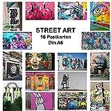42thinx - 16er Postkarten Set Streetart Chromokarton 300g Papier A6