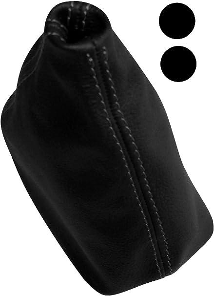 Schaltsack N/ähten Aerzetix Wei/ß Aerzetix Schaltsack Schwarze Farbe 100/% Echtes Leder