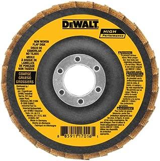 DEWALT DAAB7GVF05 4-1/2-Inch by 7/8-Inch Fine Non Woven Flap Disc