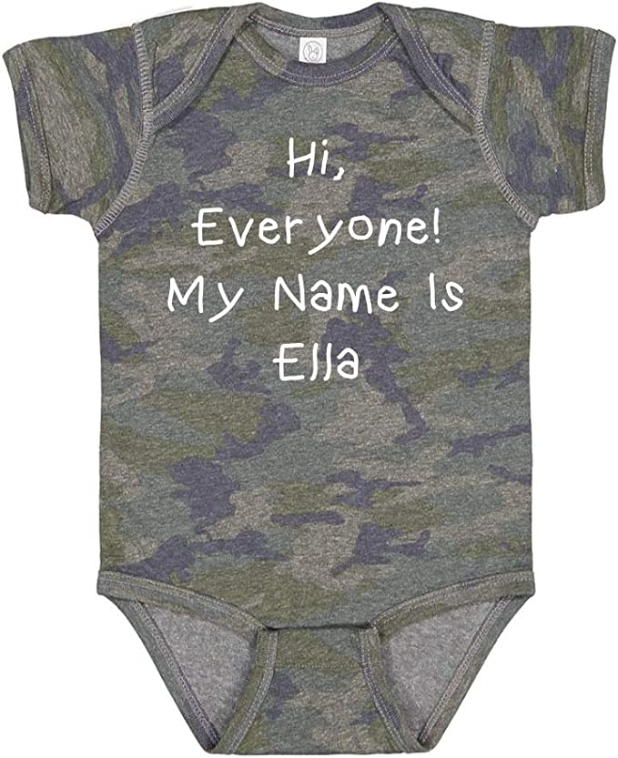 Everyone Personalized Name Baby Cotton Sleeper Gown Mashed Clothing Hi My Name is Harper