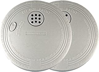 Universal Security Instruments Battery-Operated Photoelectric Smoke and Fire Alarm, 2-Pack, Model SS-901-2C/3CC (Pack of 2)