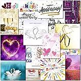 Pack of 20 Mixed Wedding Anniversary Premium Greeting Cards