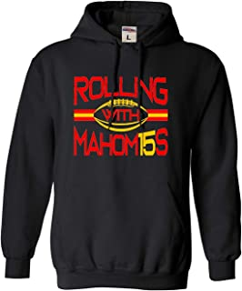Go All Out Adult and Youth Rolling with Mahomes Sweatshirt Hoodie