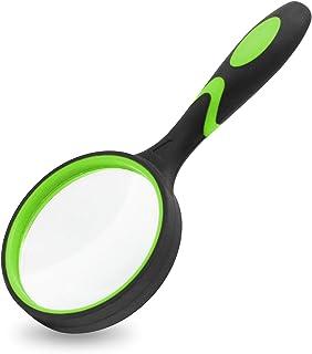 ذره بین MJIYA ، ذره بین 8X دستی برای کودکان و بزرگسالان ، لنزهای شیشه ای با کیفیت بدون خراش ، طرح ضد شکن ، پارچه تمیز کننده میکروفیبر (75 میلی متر ، سبز)