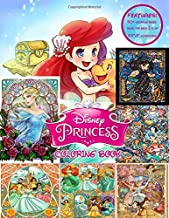 Princess Coloring Book: Over 50 Coloring Pages Of Jasmine, Cinderella, Elsa, Snow White, Ariel,... To Inspire Creativity And Relaxation. A Perfect Gift For Kids And Adults That Love Comic World