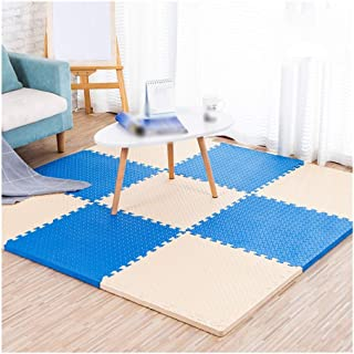 Interlocking Foam Floor Mats Safety Comfortable Wear Resistant Puzzle Exercise Mat, Gaming Room, 5 Colors, 60x60cm (Color ...