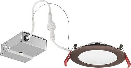 Lithonia Lighting WF4 27K30K35K 90CRI ORB M6 LED Color Temperature Selectable Ultra Thin Recessed Downlight, 2700K | 3000K | 3500K, Oil Rubbed Bronze