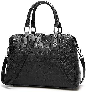 BUKESIYI Damen Tasche Umhängetasche Handtasche Frauen Klein Schultertasche Weekender Lack PU Leder CCDE77153