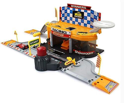 Kinder Spielzeug Set Junge Demontage Montage Track Kombination Racing Parken Spielzeug Modell 2 Geschossige Garage Spielzeug