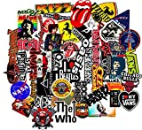 70 Pieces Brand New 3M Vinyl Stickers of various ROCK BANDS with Various Patterns. They are made of high quality 3M Vinyl with Sun Protection UV printed with 10 years life and Waterproof Function! Remember these are not ordinary stickers but water pr...