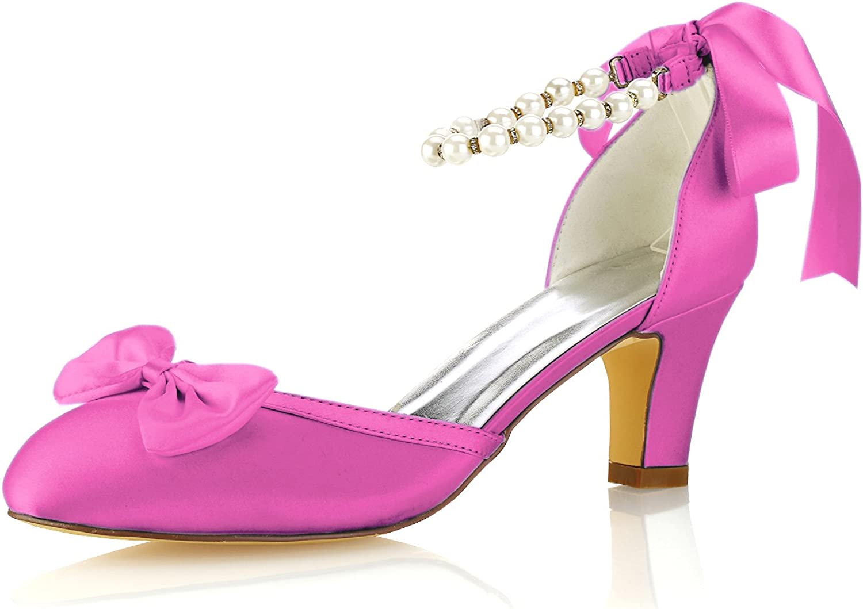 Emily 35% Super beauty product restock quality top! OFF Bridal Women's Silk Like Satin Platform Stiletto Heel Pump